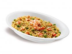 Risotto 3 cereali gamberi e curry