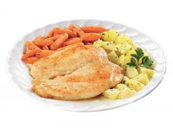 Petto di pollo con carote e patate via col gusto